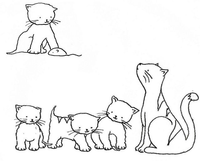 *Kittens Embroidery Pattern by Bustle & Sew*