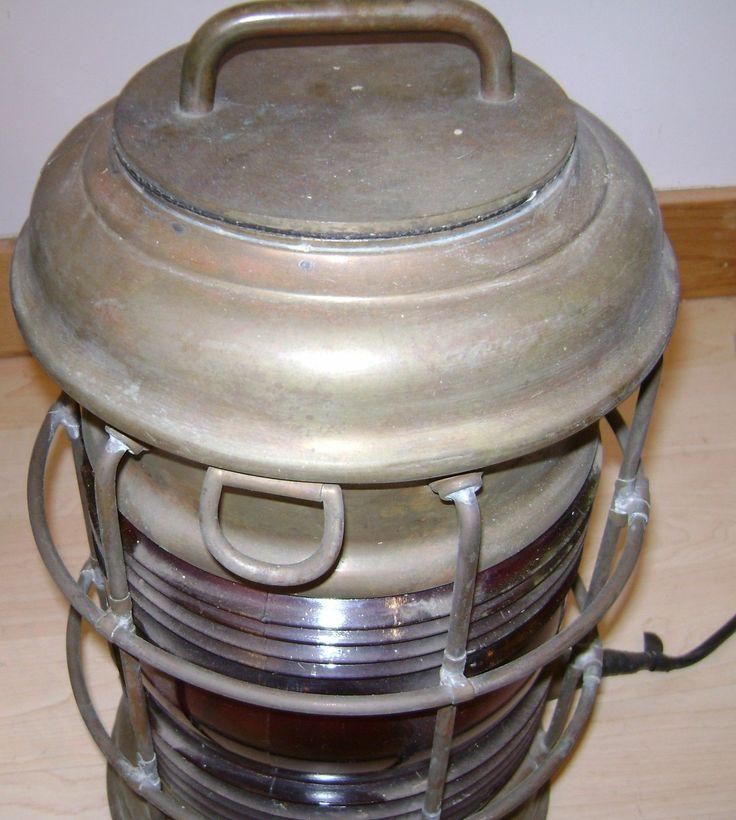 Antique Perko Navigation Lights Vintage Authentic Naval: Perkins Marine Lamp Perko Breakdown Lantern Still Lights