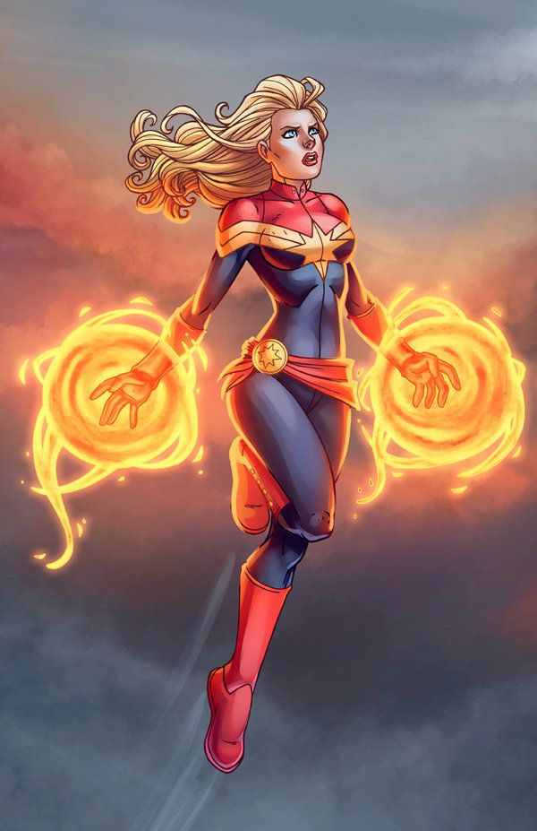 Captain Marvel by Jamie by *DAlexisStPierre on deviantART