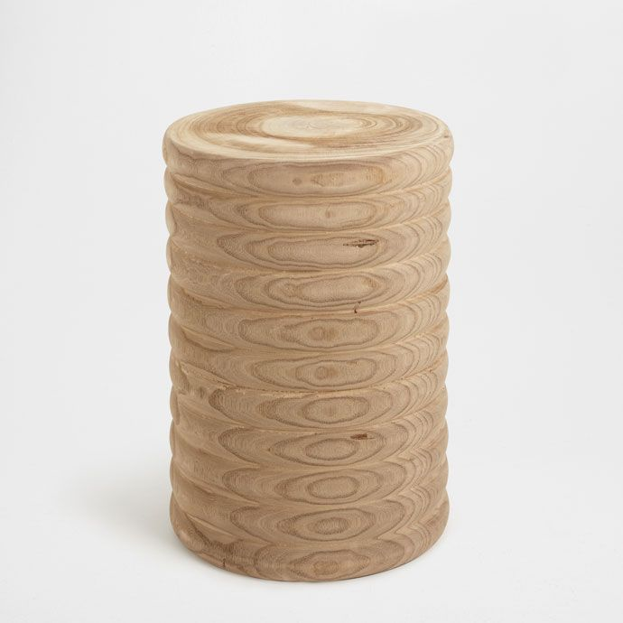 Image 1 of the product Wooden stool with horizontal stripes
