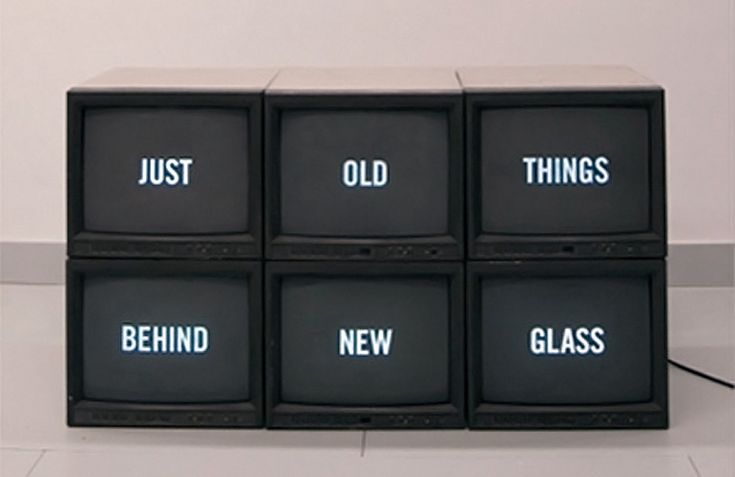 just old things behind new glass