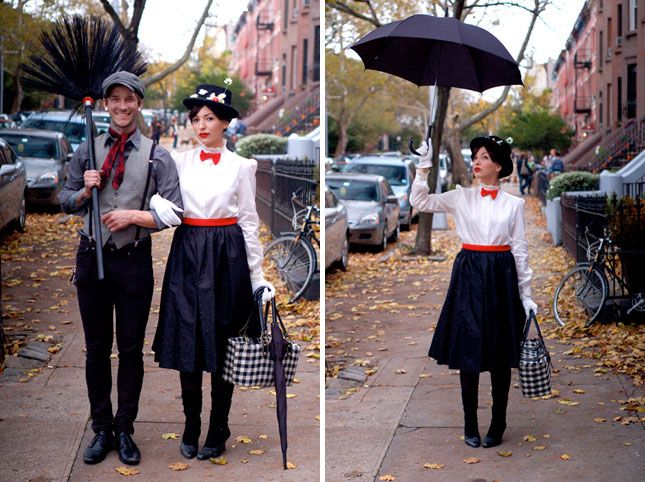 Go as Mary Poppins and Bert this Halloween.