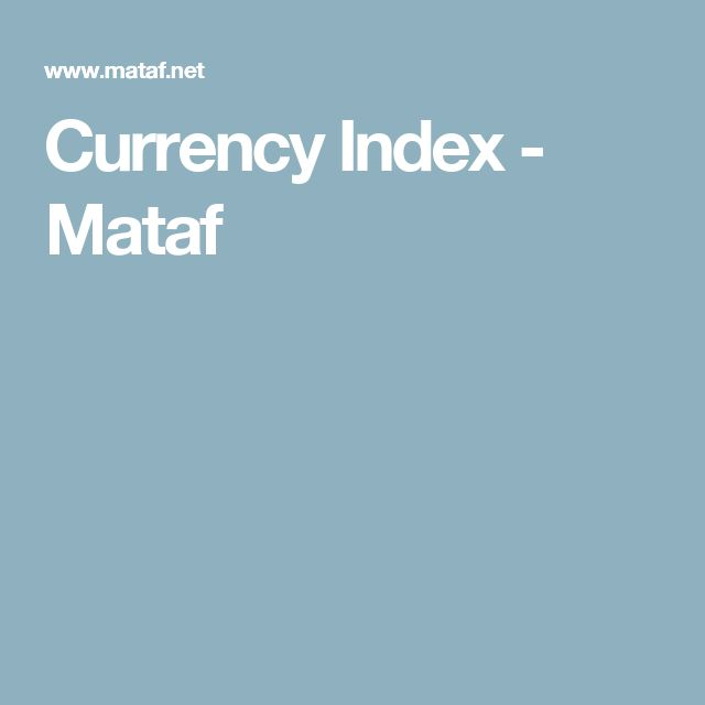 Currency Index - Mataf