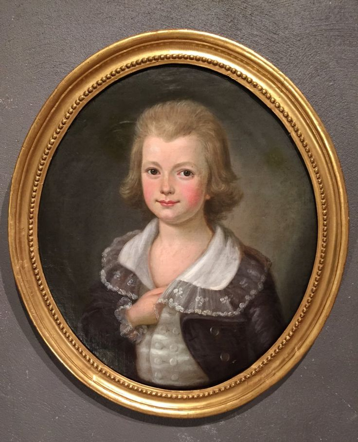 Child portrait of French revolutionary period around 1790, representing a child of the nobility