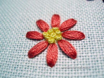 Granitos - hand embroidered leaves ✿Teresa Restegui http://www.pinterest.com/teretegui/✿
