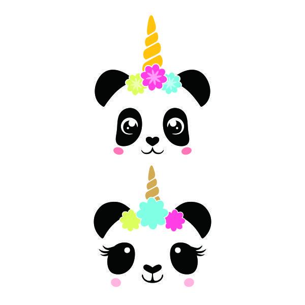 Pandicorn Panda Unicorn Cuttable Design Cute Panda Wallpaper Panda Artwork Panda Party