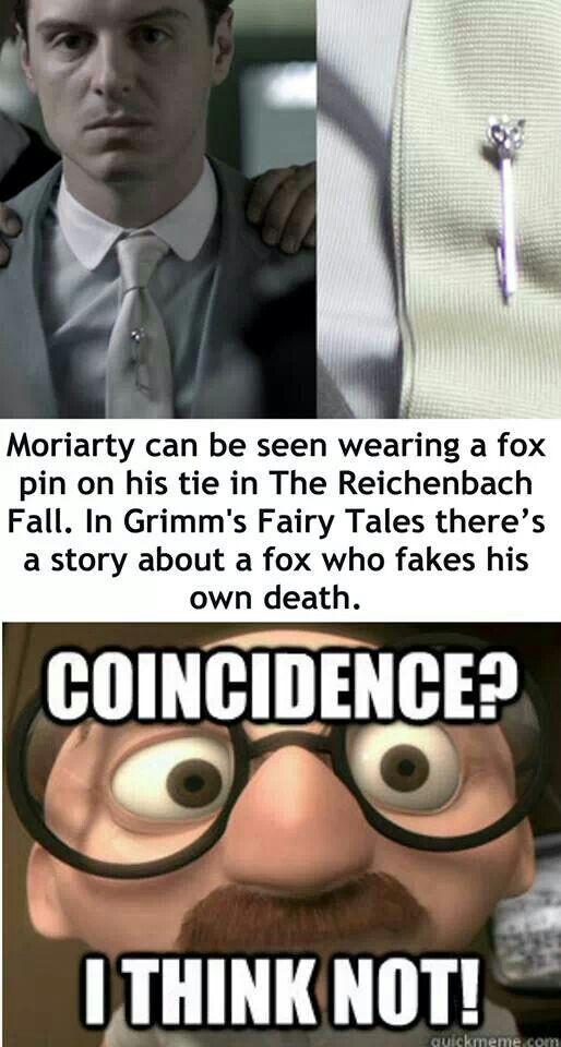 Moriarty fox pin