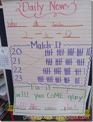 morning message options- awesome if I was still in kindergarten ... So this is for my k friends!
