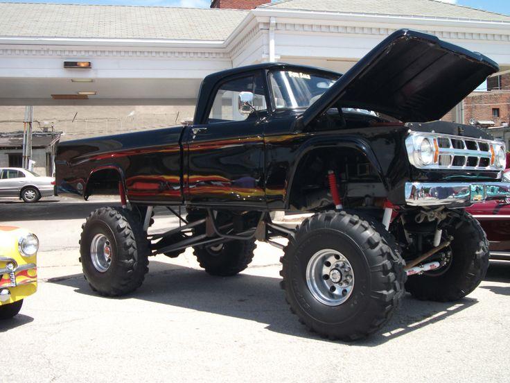 black lifted dodge ram truck