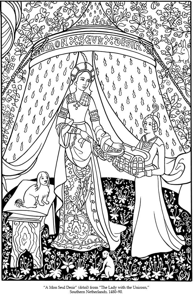 medevial coloring pages - photo#30