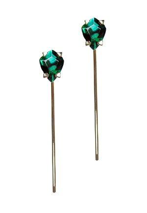 Make Way Ming Earrings Guld/Grön