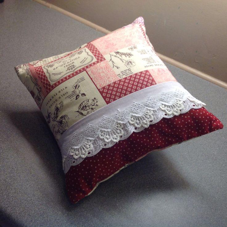 Shabby chic cushion. Kay Horne