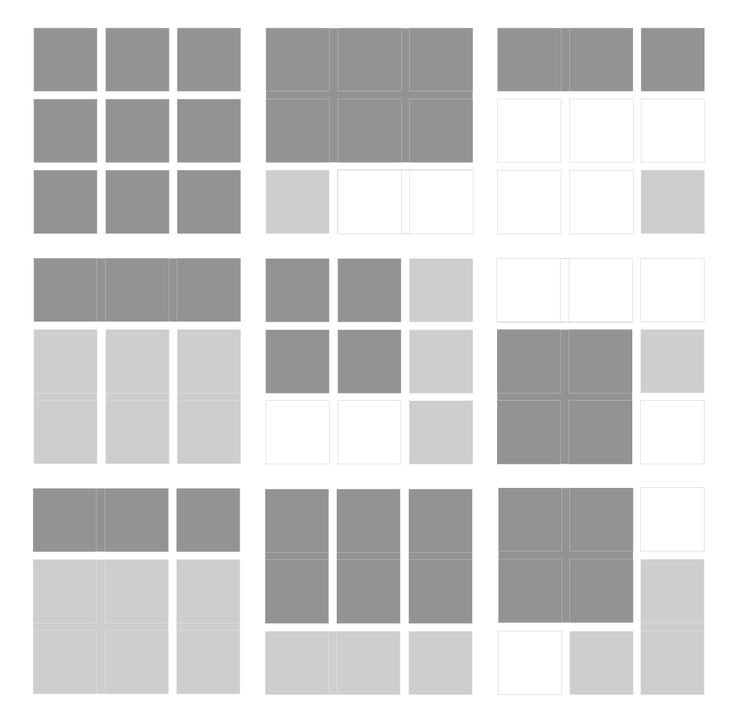 Web Page Layout Tiles Design Template
