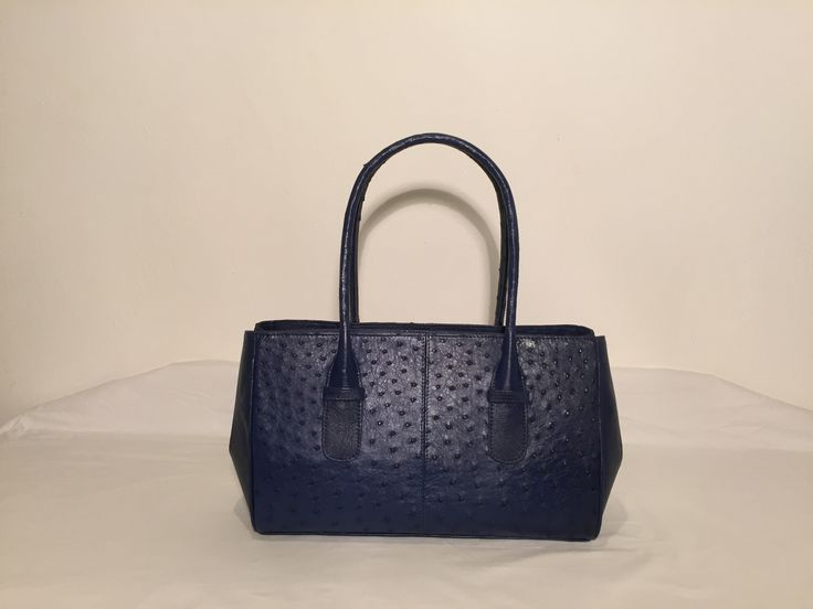 Coco -  Noble Stone, Genuine African Ostrich Leather Handbag.