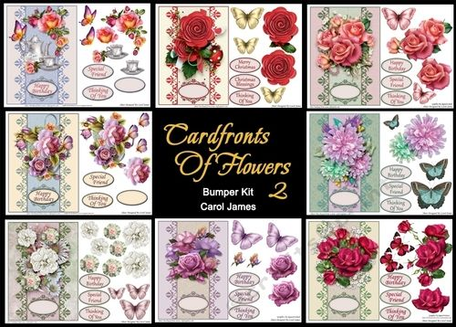 Bumper Kit   Cardfronts Of Flowers 2