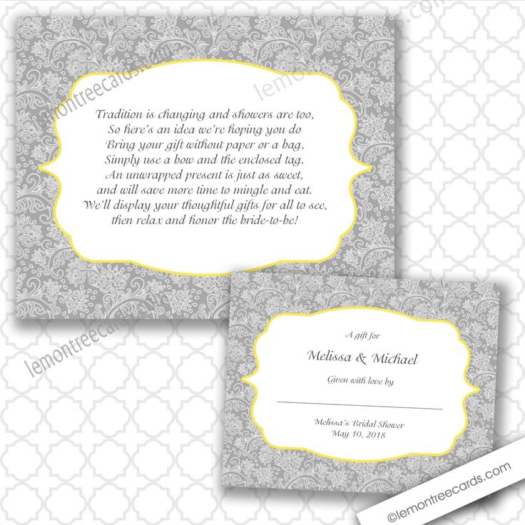 unwrapped gift bridal shower wording - Google Search