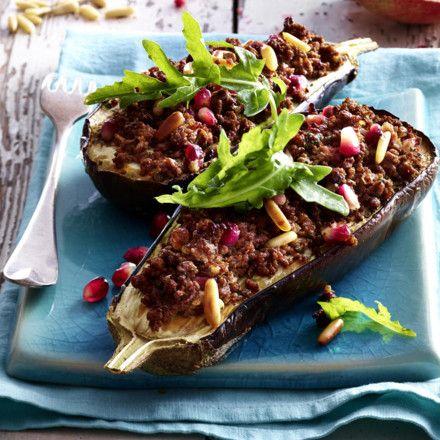 Lamm mit Auberginen und Granatapfel Rezept