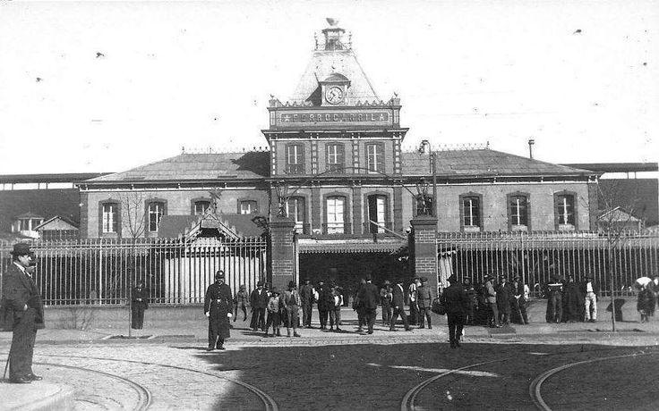 Panorámica de la Estación de Trenes de Concepción, 1920