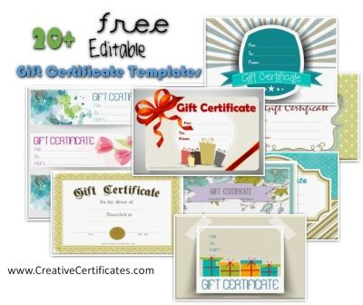 All gift certificate templates all free and can be downloaded instantly with no need to register.