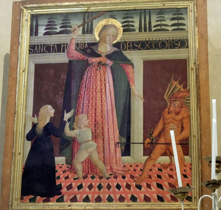 Santo Spirito - Florence. Тканые Часовня. Доминик Зиновий. Мадонна дель Soccorso.