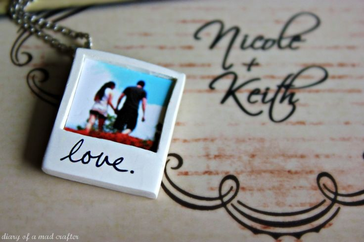 polaroidcharm- from Diary of a Mad Crafter. SO FUN!!!! Could make in bulk for gifts :)