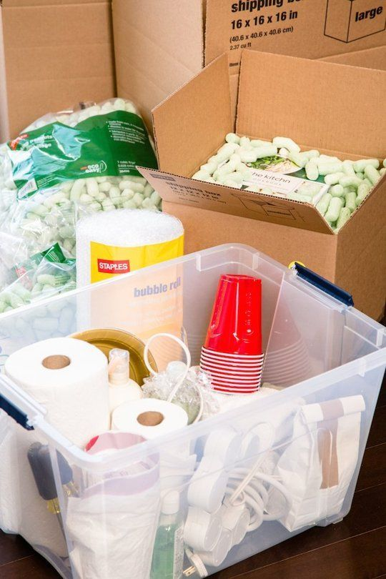 STAPLES MOVING TIP: Make an essentials box. Pick up a plastic bin for the things you'll need first thing when you're unpacking. We recommend a clear box for easy identification.
