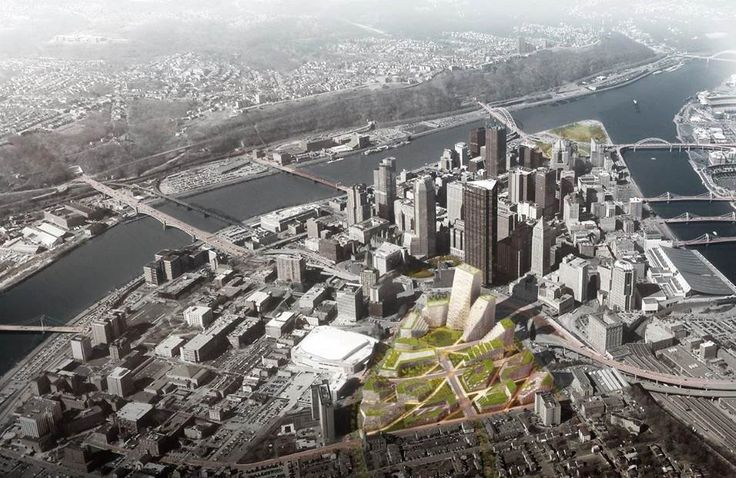 BIG, West 8 + Atelier Ten Unveil Masterplan for Pittsburgh's Lower Hill District,Courtesy of BIG