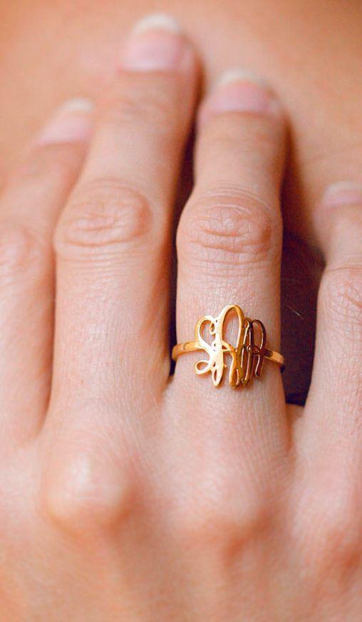 Monogram ring.