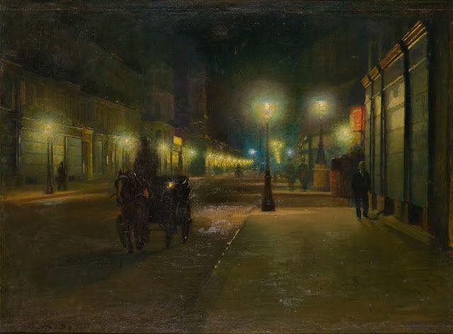Ludwik de Laveaux (1868-1894), Rue de Paris à la Nuit