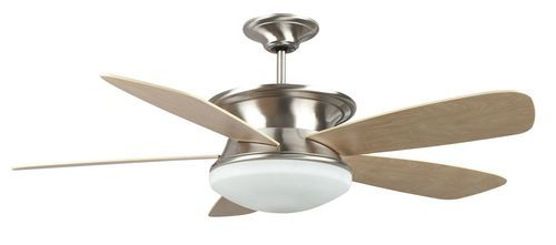 Euresto 52 Inch 5 Blade Stainless Steel Ceiling Fan with Light Kit - 52EU5EST