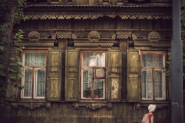 Старые деревянные дома