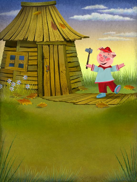 Three Little Pigs  -by www.ponyapps.com  #Kids #Fairytales #Books #Games #Education  ( Read and Play ) ▶Languages::English, Russian. https://play.google.com/store/apps/details?id=com.saturnanimation.threelittlepigsbook
