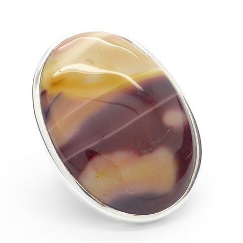 Ring Mookaite | 925 Sterling Silver | West Australia Jasper | Dreamtime Travel Stone | Ancestral or Blood line Spirits | Crystal Heart Australia Alternative Gems since 1986
