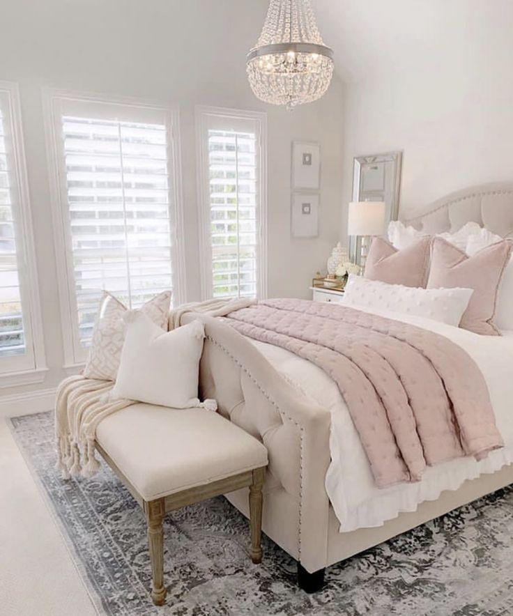 Soft Pink And Beige Cozy Bedroom Decor Bedroom Designs For Couples Amazing Bedroom Designs Bedroom Design