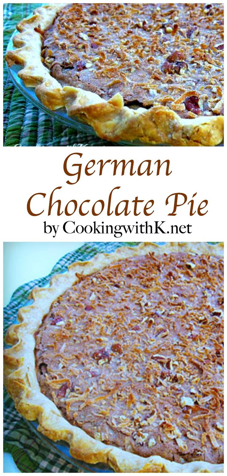 If you are a fan of the Classic German Chocolate Cake, then you are going to be a big fan of this pie.  It is packed with all the richness and chocolate deliciousness of the cake, not to mention it is so easy to make, and it is everything you are looking for in a wonderful holiday dessert!
