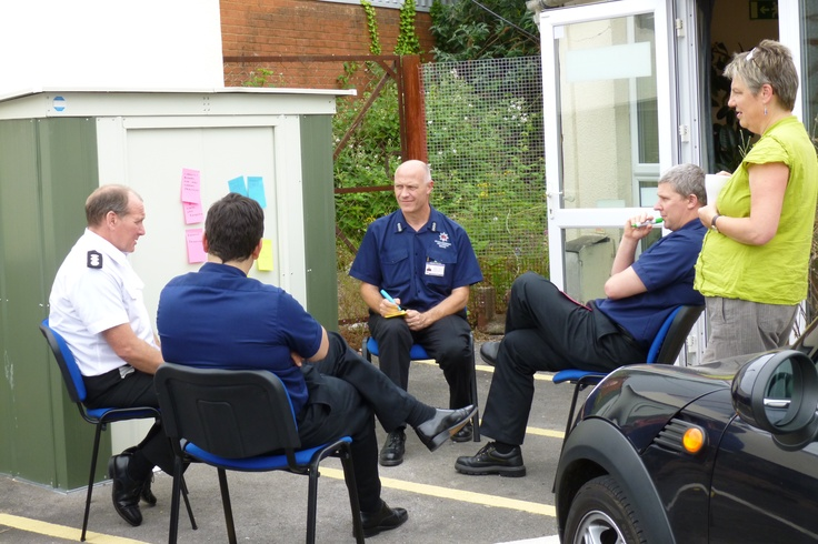 2 day echo Facilitator Training for South West Forum - here with Fire & Rescue officers interested in knowing more about how their agency can become more open and responsive to community influence (part of the Axis of Influence series) http://www.southwestforum.org.uk