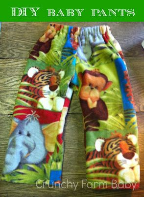 How to Sew Baby Pants {Photo Tutorial}