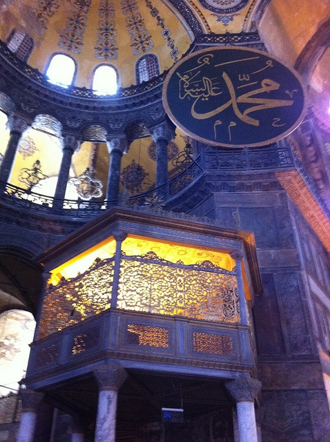 Inside the Hagia Sofia in Istanbul, Turkey #travel #photography