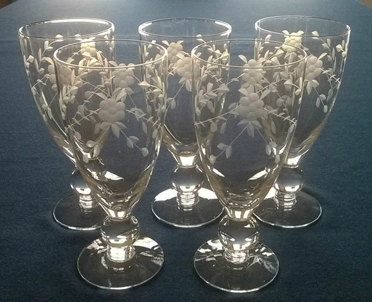 26 best antique wine glasses images on pinterest wine for Thin stem wine glasses