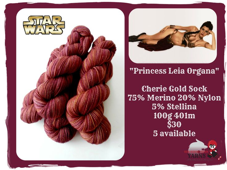 """Princess Leia Organa"" - Star Wars / Red Riding Hood Yarns"