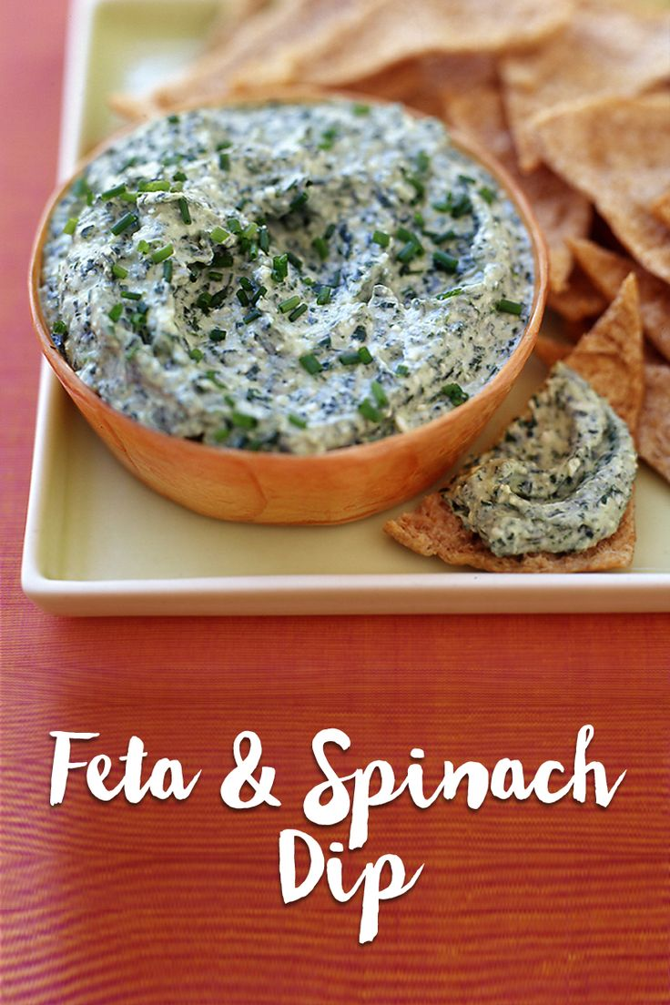 Apps aren't all bad! Snack smarter with this feta and spinach dip.