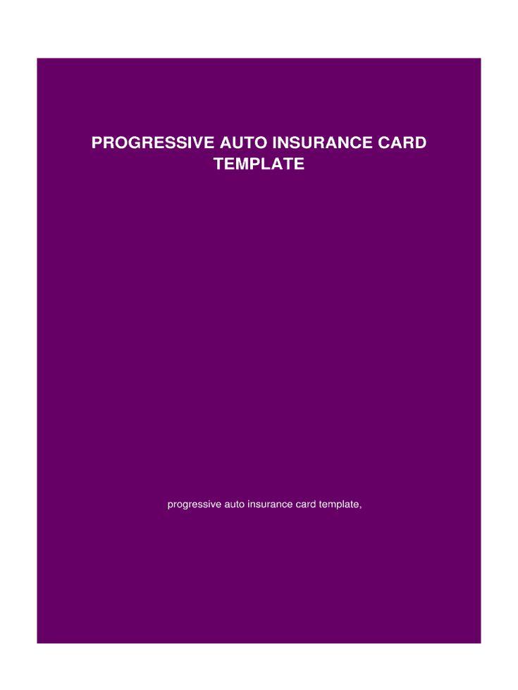 Blank progressive insurance card fill online printable