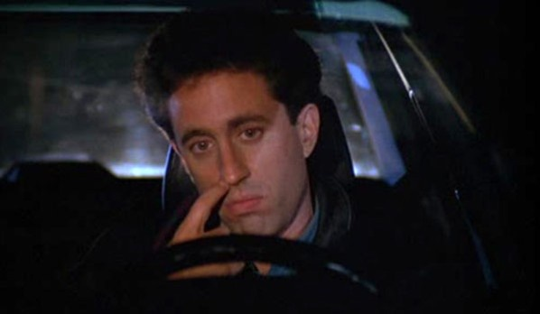 Seinfeld episode where Jerry gets caught picking his nose!