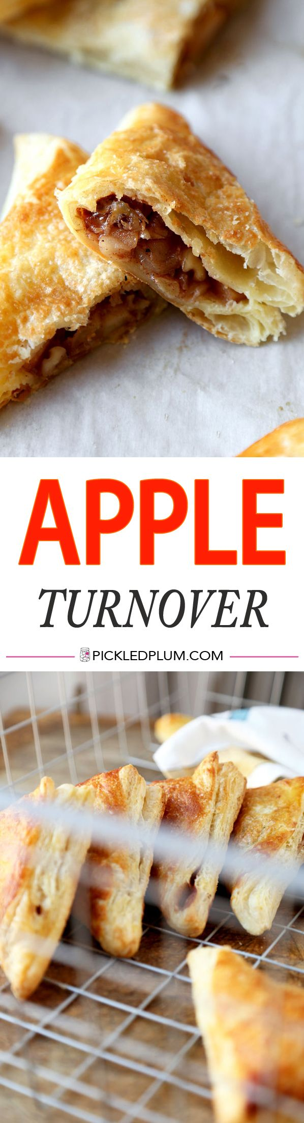 Best Apple Turnover Recipe - sweet and tangy dessert - ready in 40 minutes! http://www.pickledplum.com/best-apple-turnover-recipe/