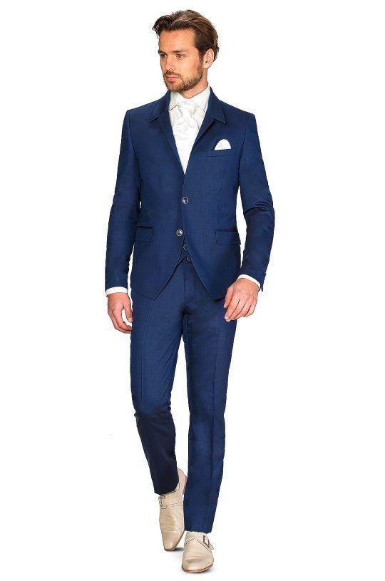 cossmo trouwpakken 2224R Clayton blauw 2224R Clayton kostuum Cossmo - ROKA