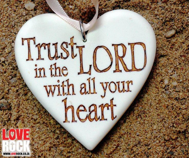 #MondayInspiration: Trust in the Lord with all your heart. Get your own inspiration at our online store: http://asite.link/3my. #LoveRock #Bible
