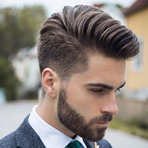 Best Men's Haircuts For Thick Hair - Comb Over | Mens hairstyles thick hair, Mens hairstyles pompadour, Thick hair styles
