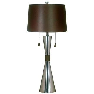 181 best lighting units images on pinterest floor lamps floor off bella brushed steel table lamp by kenroy home a contemporary look to your home with this table lamp featuring a chocolate faux leather shade and mozeypictures Choice Image