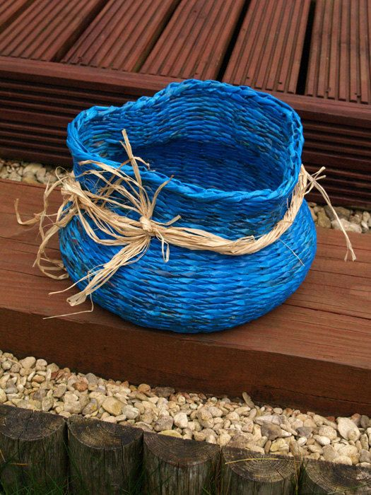 recycled paper basket by PaperRay