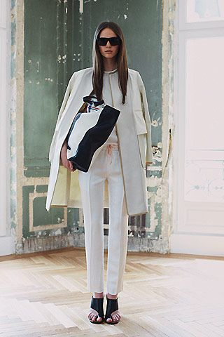 celine - white on white has never been more chic